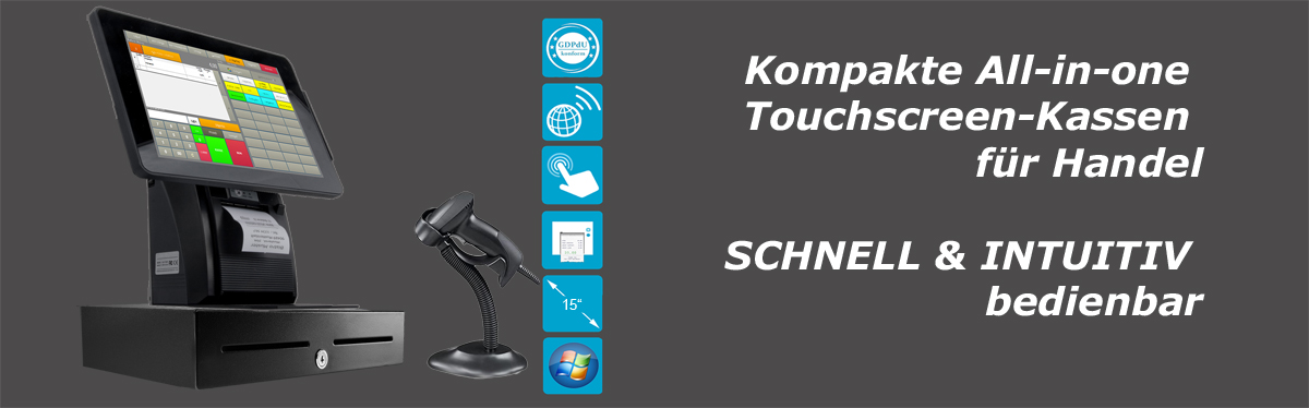 Kompakte All-in-One Kassen für Handel
